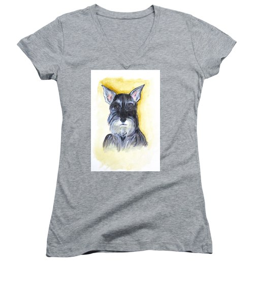 Batman Bouser Women's V-Neck T-Shirt (Junior Cut)
