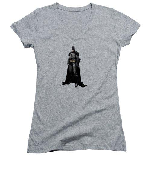 Batman Splash Super Hero Series Women's V-Neck T-Shirt (Junior Cut) by Movie Poster Prints