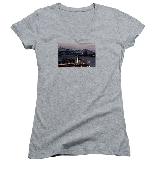 Baton Rouge Bridge Women's V-Neck T-Shirt