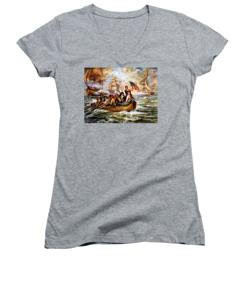 Battle Of Lake Erie - Remastered Women's V-Neck (Athletic Fit)