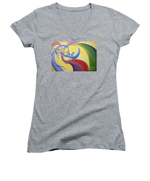Baubles N Bows Women's V-Neck