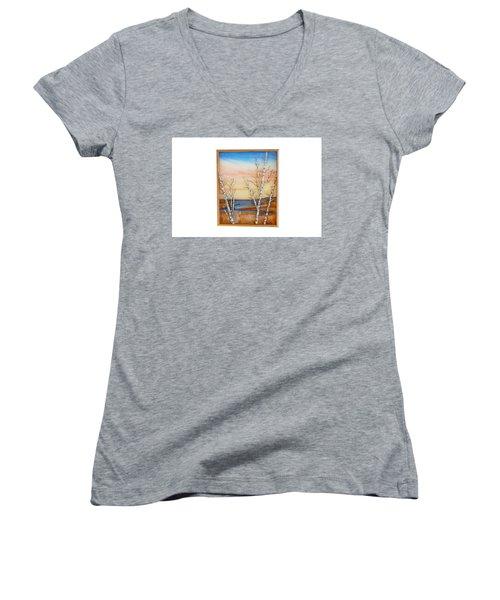 Bay Birch Women's V-Neck T-Shirt