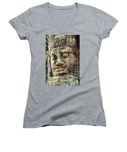 Bayon 2 Women's V-Neck T-Shirt (Junior Cut) by Werner Padarin