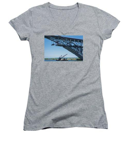 Bayonne Bridge Raising 2 Women's V-Neck