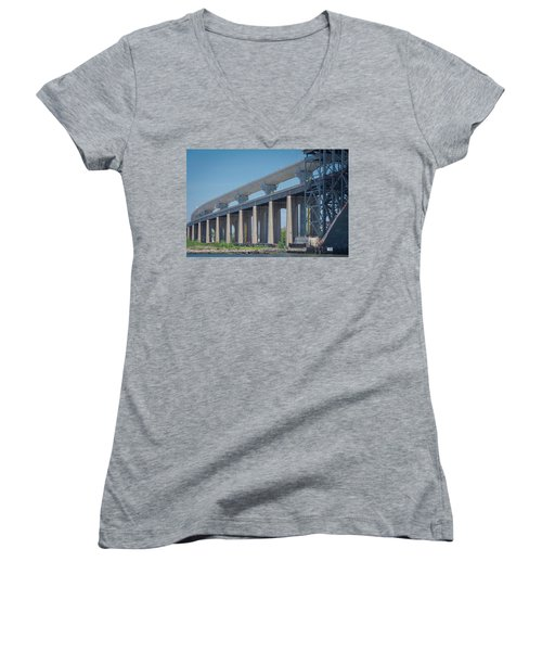 Bayonne Bridge Raising #5 Women's V-Neck (Athletic Fit)