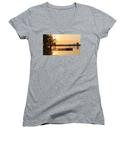 Be At Peace Women's V-Neck (Athletic Fit)
