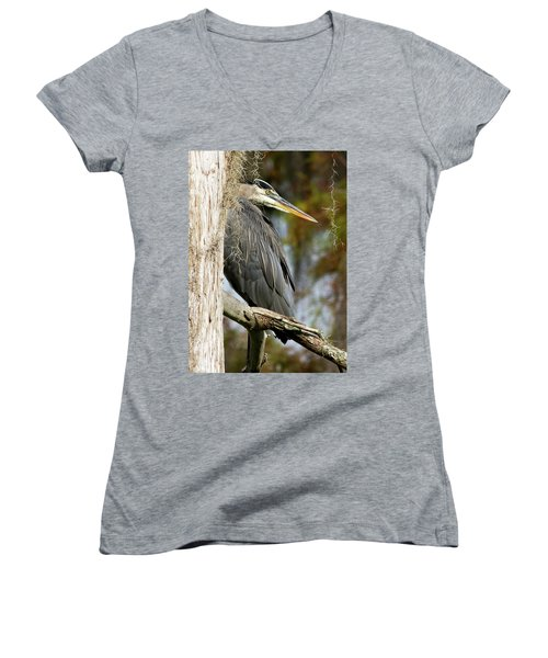Be The Tree Women's V-Neck T-Shirt (Junior Cut) by Lamarre Labadie