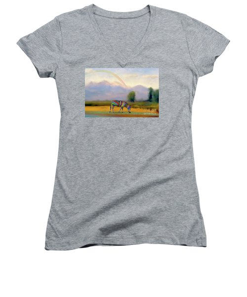 Women's V-Neck T-Shirt (Junior Cut) featuring the photograph Be Transformed By The Renewal Of Your Mind by Bonnie Barry