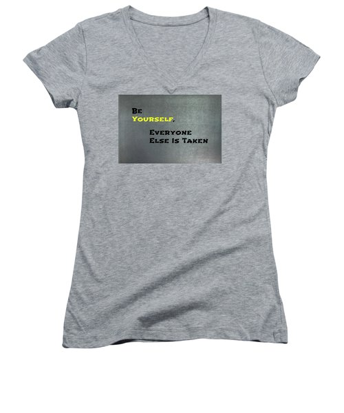 Be Yourself #1 Women's V-Neck
