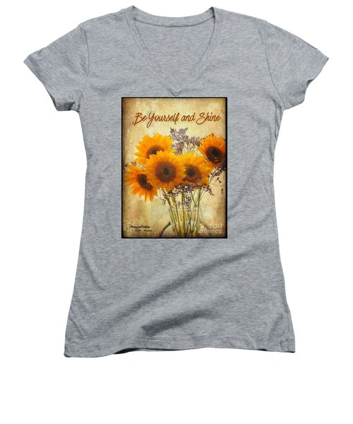 Be Yourself And Shine Women's V-Neck