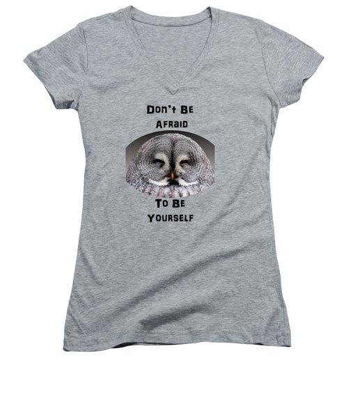Be Yourself Women's V-Neck T-Shirt (Junior Cut) by Judi Saunders