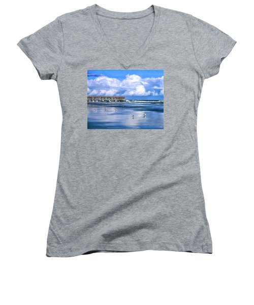 Beach At Isle Of Palms Women's V-Neck