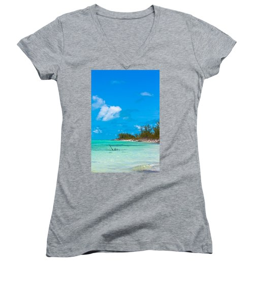Beach At North Bimini Women's V-Neck