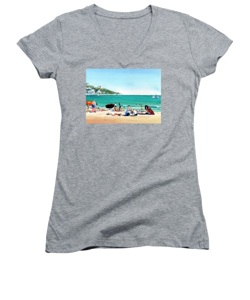 Beach At Roses, Spain Women's V-Neck