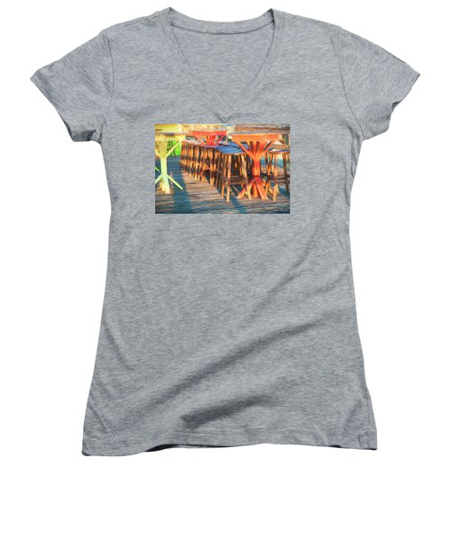Beach Bar Morning Women's V-Neck T-Shirt