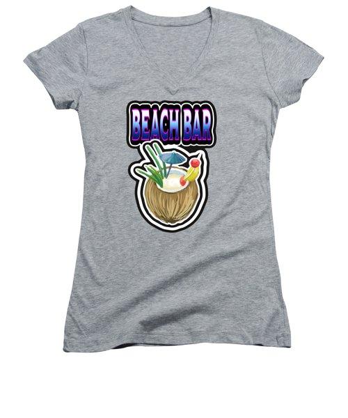 Beach Bar Women's V-Neck T-Shirt