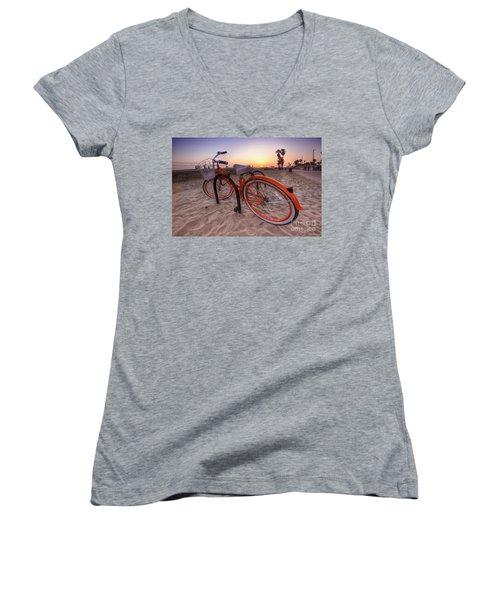 Beach Bike Women's V-Neck T-Shirt
