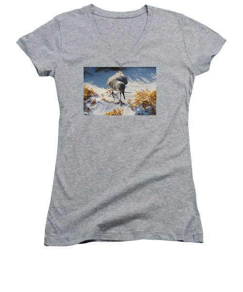 Beach Combing Women's V-Neck (Athletic Fit)