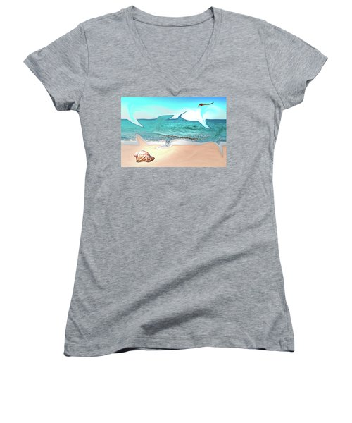 Beach Dream Women's V-Neck T-Shirt