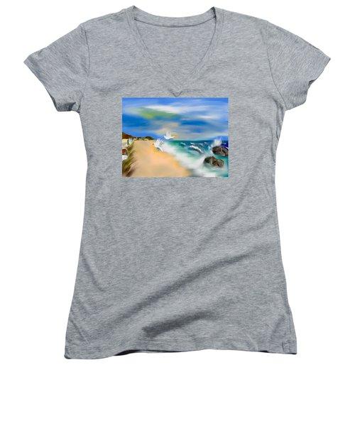 Beach Energy Women's V-Neck T-Shirt