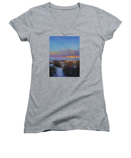 Beach Escape Women's V-Neck T-Shirt