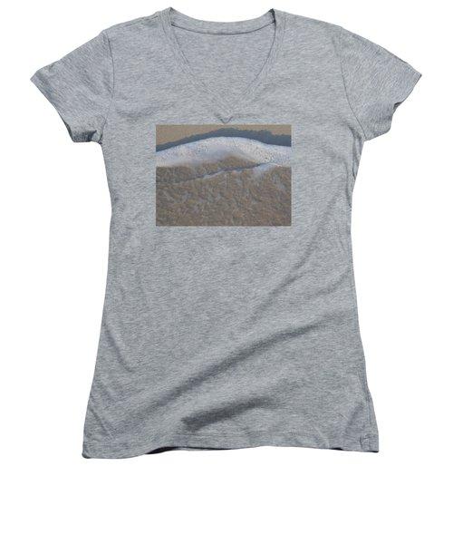 Beach Foam Women's V-Neck T-Shirt (Junior Cut) by Margaret Brooks