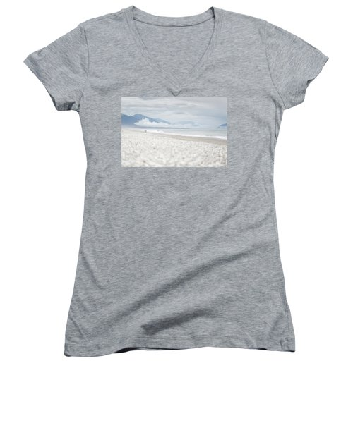 Beach For Two Women's V-Neck (Athletic Fit)
