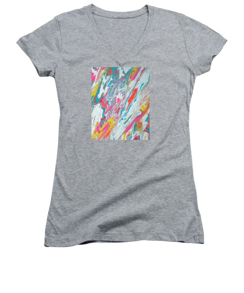 Beach House On The Moon Women's V-Neck T-Shirt