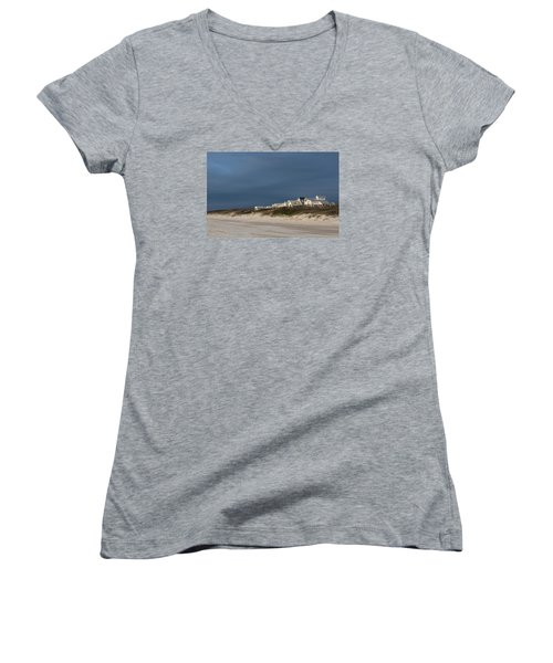 Beach Houses Women's V-Neck (Athletic Fit)