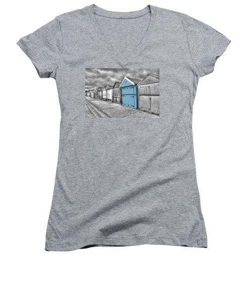 Beach Hut In Isolation Women's V-Neck T-Shirt