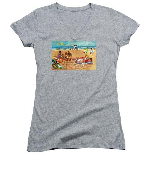 Beach In August Women's V-Neck T-Shirt