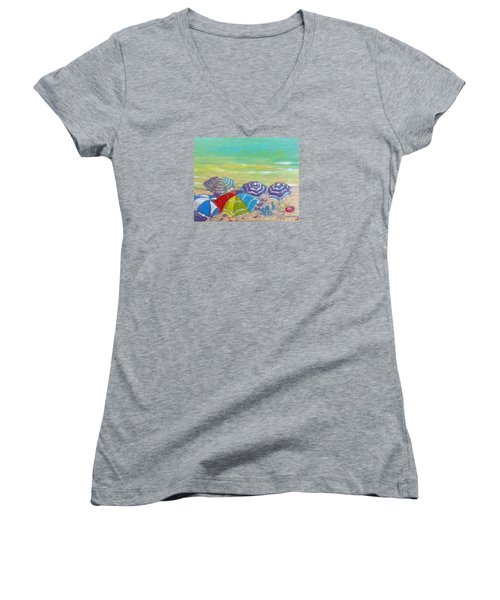 Beach Is Best Women's V-Neck (Athletic Fit)