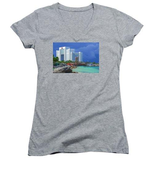 Beach Life In Cancun Women's V-Neck