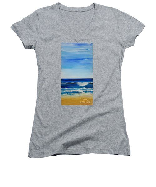 Beach Ocean Sky Women's V-Neck