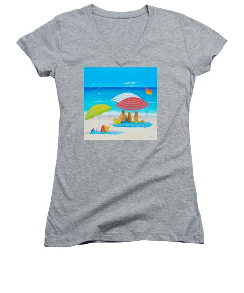 Beach Painting - Endless Summer Days Women's V-Neck (Athletic Fit)