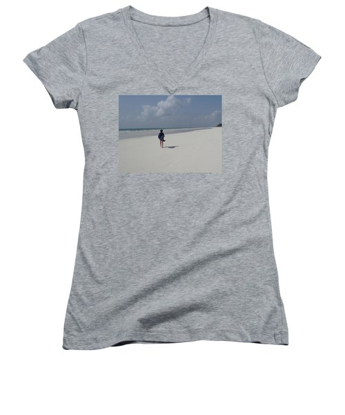 Beach Run Women's V-Neck T-Shirt