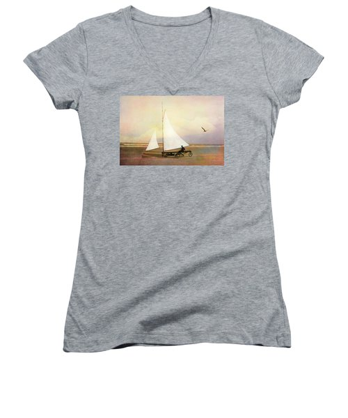 Beach Sailing Women's V-Neck