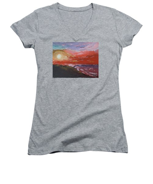 Beach Sunset Women's V-Neck T-Shirt
