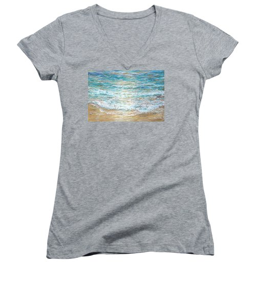 Beach Tide Women's V-Neck T-Shirt