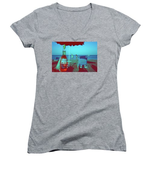 Beach Time Women's V-Neck (Athletic Fit)