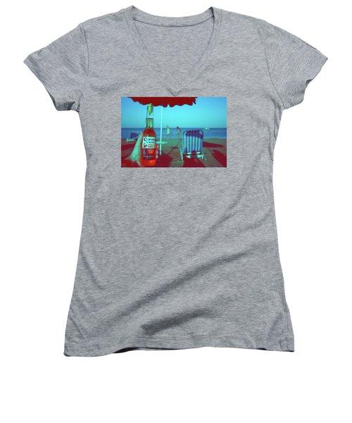 Beach Time Women's V-Neck T-Shirt