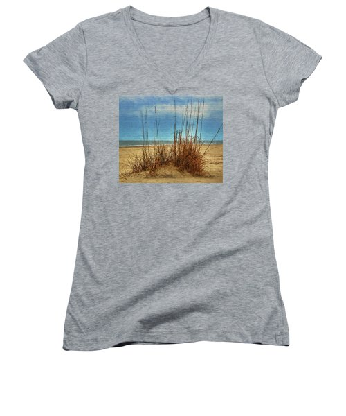 Beach View Women's V-Neck