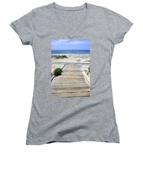 Beach Walk Women's V-Neck