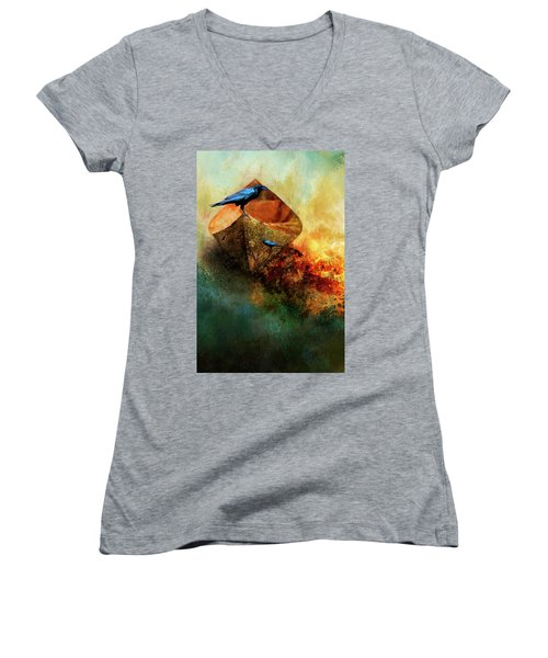 Beached Crow Women's V-Neck