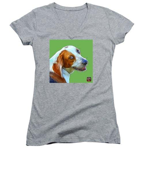 Beagle Dog Art- 6896 -wb Women's V-Neck T-Shirt