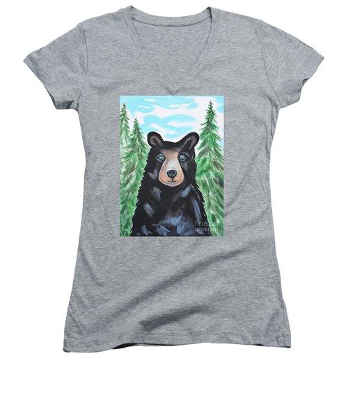 Bear In The Woods Women's V-Neck