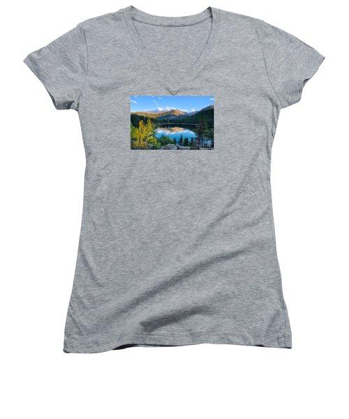 Bear Lake Reflection Women's V-Neck (Athletic Fit)