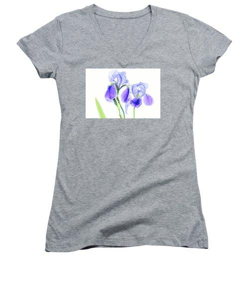 Bearded Iris Women's V-Neck