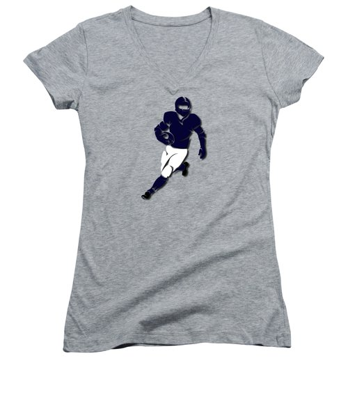 Bears Player Shirt Women's V-Neck T-Shirt (Junior Cut) by Joe Hamilton