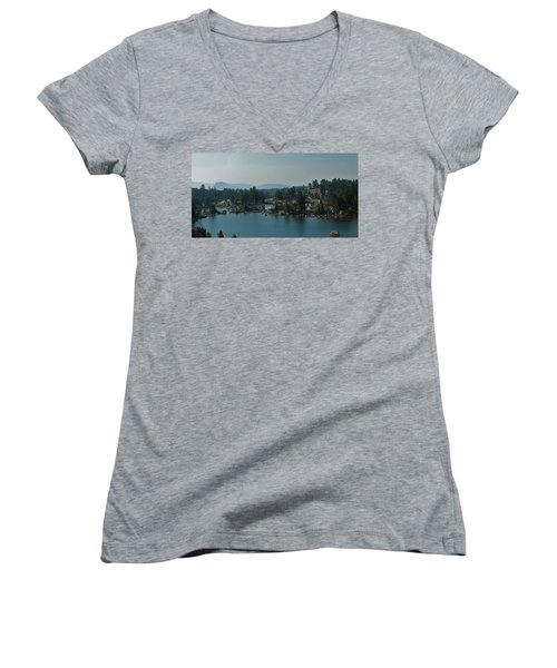Beartooth Pond At 10,000 Feet Women's V-Neck